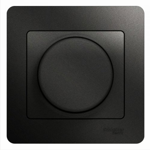 GLOSSA Светорегулятор универсальный 600Вт/ВА антрацит в сборе