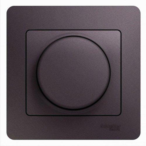 Светорегулятор (диммер) Glossa универс. 600Вт/В.А в сборе сиреневый туман SchE GSL001436