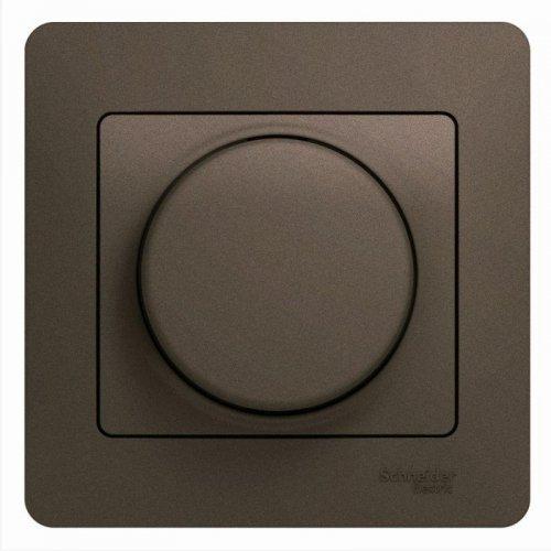 Светорегулятор (диммер) Glossa универс. 600Вт/В.А в сборе шоколад SchE GSL000836