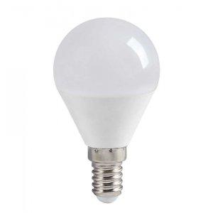 Лампа светодиодная LED 5вт E14 тепло-белый матовый шар ECO