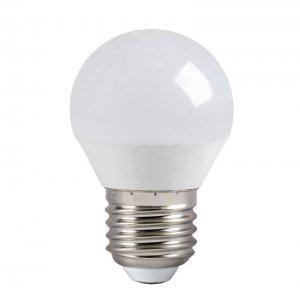 Лампа светодиодная LED 5вт E27 тепло-белый матовый шар ECO