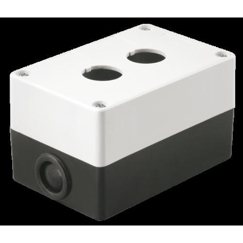 Корпус КП-102 на 2 кнопки белый