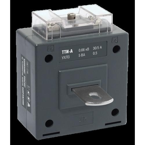 Трансформатор тока ТТИ-А 50/5А с шиной 5ВА класс точности 0.5S