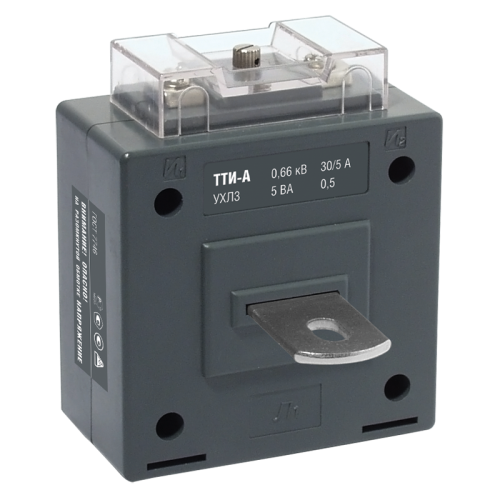 Трансформатор тока ТТИ-А 200/5А с шиной 5ВА класс точности 0.5S