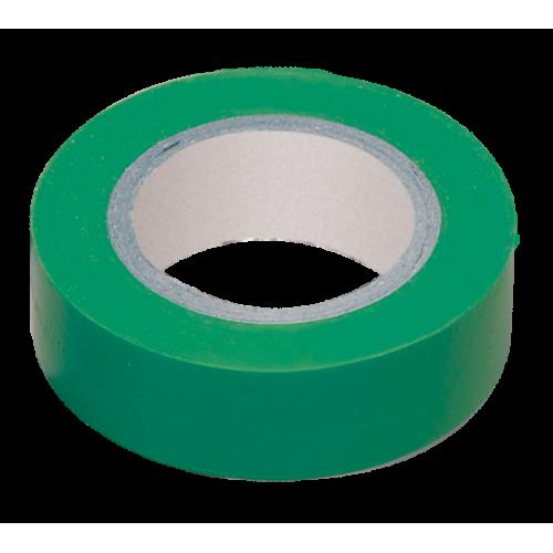 Изолента ПВХ зеленая15мм 20м