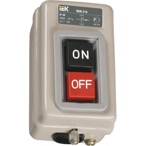 Выключатель кнопочный ВКИ-216 трехполюсный 10А IP40 230/400В