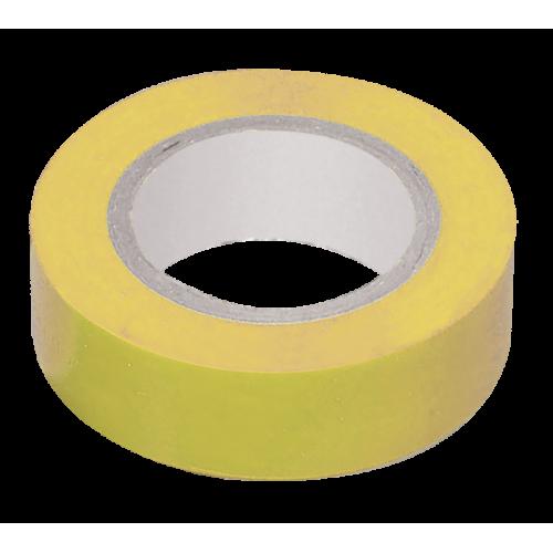 Изолента ПВХ желтая 15мм 20м
