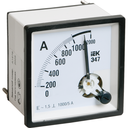 Амперметр Э47 150/5А 72х72 AC включение через трансформатор (класс точности 1.5)