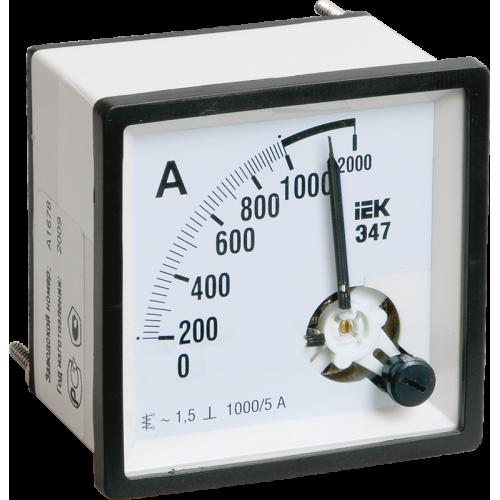 Амперметр Э47 1000/5А 72х72 AC включение через трансформатор (класс точности 1.5)