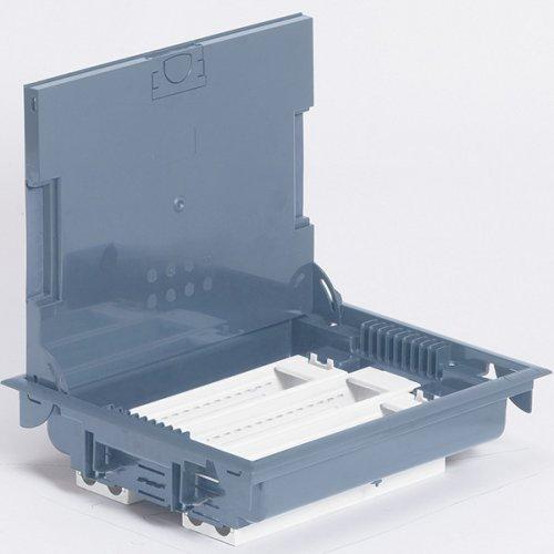 Коробка напольная крышка для коврового покрытия 24 модулей серая