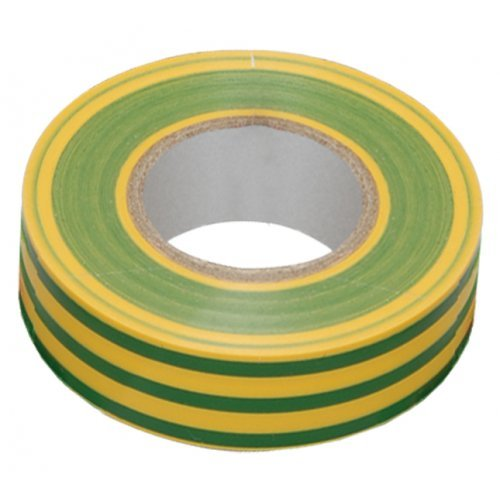 Изолента ПВХ желто-зеленая 19мм 20м