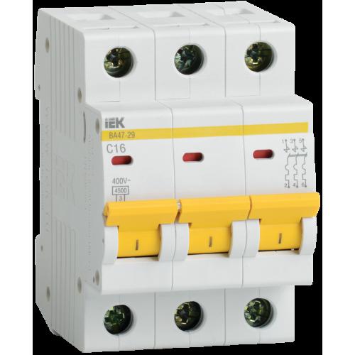 Выключатель автоматический трехполюсный 32А C ВА47-29 4.5кА