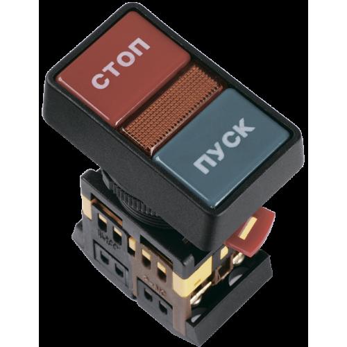 Кнопка PPBB-30N Пуск-Стоп с подсветкой неон 1з+1р 240В