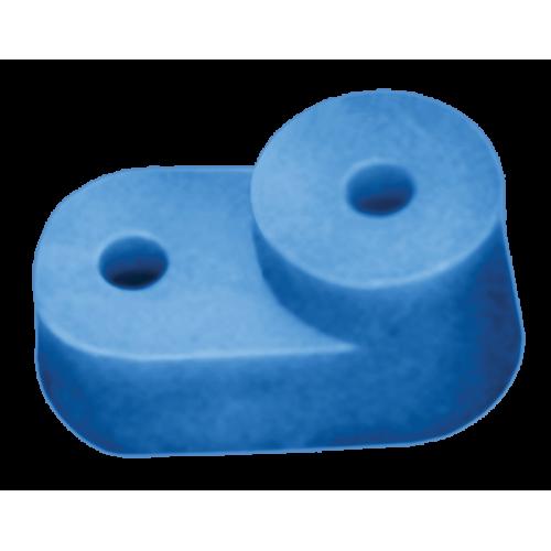 Изолятор угловой для 0 шины синий