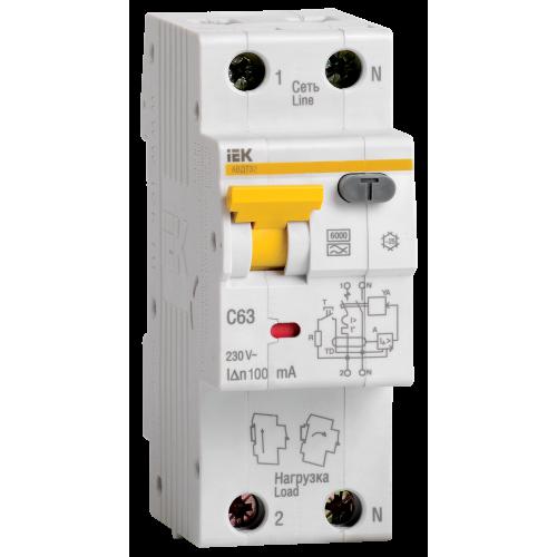 Выключатель автоматический дифференциальный АВДТ-32 1п+N 16А 30мА С