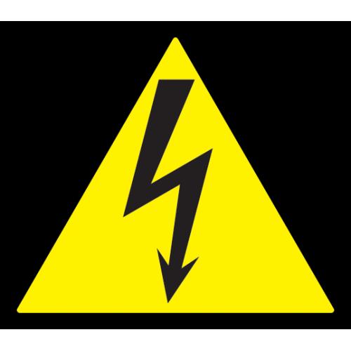Знак безопасности Молния 100x100x100 треугольник