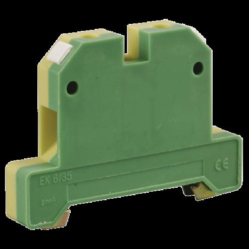 Клемма ЗНИ-4 мм.кв. ЗЕМЛЯ желто-зеленая