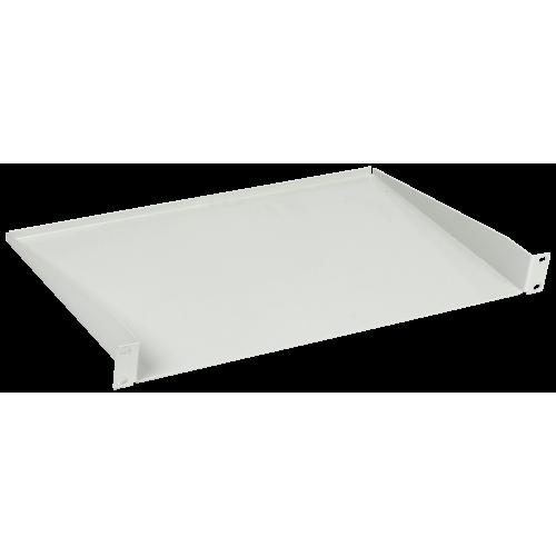 Полка консольная ITK 19 дюймов глубиной 280мм 1 юнит цельнометаллическая серая
