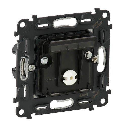 Механизм выключателя электронный 1-кл. СП Valena In'matic 0.15А IP20 250В с ключом-картой для отелей винт. зажимы сер. Leg 752025