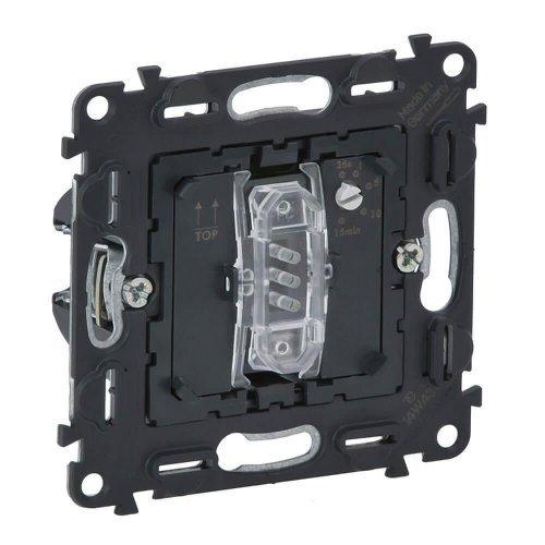 Механизм выключателя 1-кл. СП Valena In'matic 8А IP20 250В 10АХ с нейтралью с выдержкой времени 2-канальный освещение 250Вт/вентиляция 250ВА винт. зажимы сер. Leg 752032