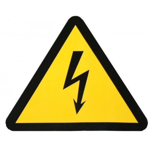 Знак безопасности Молния 150х150х150мм (1шт)