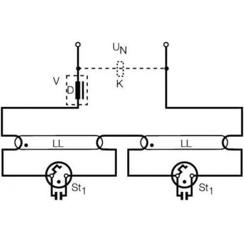 Стартер ST151 4-22Вт 220-240В(одиночное подключение 110-127B)