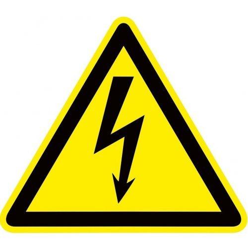 """Знак пластик """"Опасность поражения электрическим током"""" (Молния) W08 100х100мм PROxima EKF pn-1-01"""