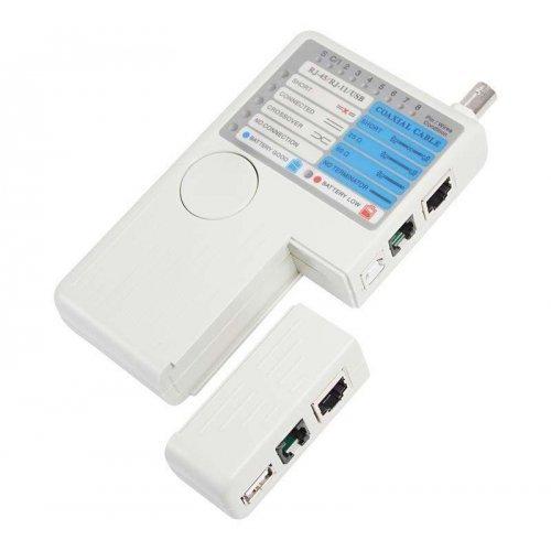 Тестер кабеля универс. RJ-45+RJ-11+RJ-12+USB+BNC (HT-2468B) REXANT 12-1003
