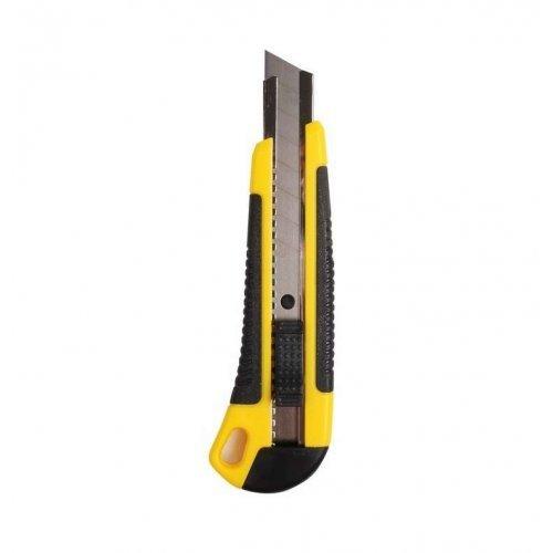 Нож с сегмент. лезвием 18мм ABS пласт. обрезинен. корпус REXANT 12-4901