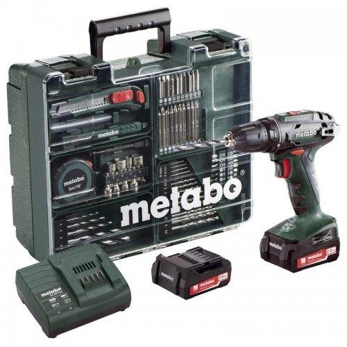 Винтоверт аккумуляторный BS 18 2х2.0Ач LiIon с набором оснастки Metabo 602207880