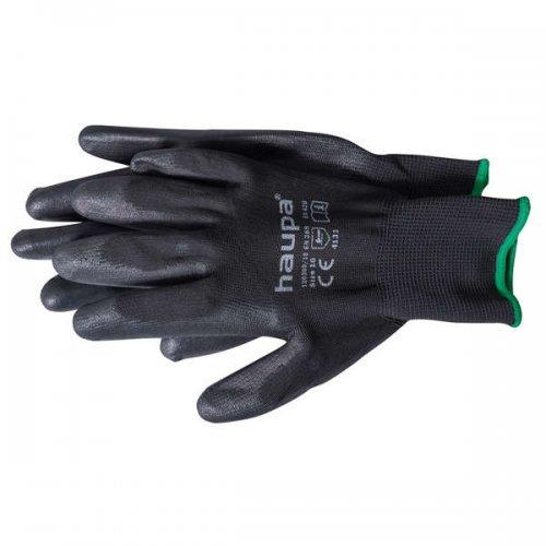 Перчатки с полиуретановым покрытием размер 9 черн. (пара) HAUPA 120300/9