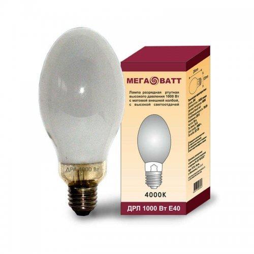 Лампа газоразрядная ртутная ДРЛ 1000 E40 (9) МЕГАВАТТ 03079