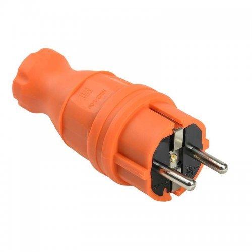 Вилка прямая ОМЕГА ВБп3-1-0м IP44 каучук оранж. ИЭК PKR01-016-2-K09