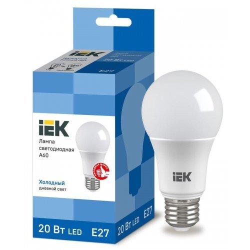 Лампа светодиодная ECO A60 9Вт грушевидная 4000К бел. E27 810лм 230-240В ИЭК LLE-A60-9-230-40-E27