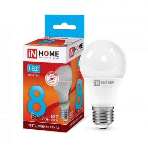 Лампа светодиодная LED-A60-VC 8Вт 230В E27 4000К 720Лм IN HOME 4690612024028