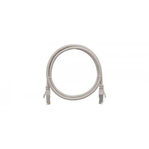 Патч-корд F/UTP 4 пары кат.5e (класс D) 100МГц 2хRJ45/8P8C BC (чистая медь) 26AWG (7х0.165мм) LSZH нг(А)-HFLTx сер. 1.5м NIKOMAX NMC-PC4SD55B-015-C-GY