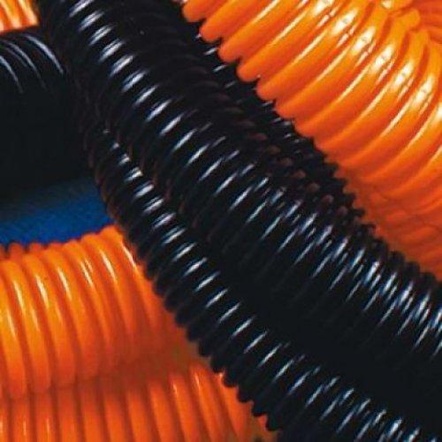 Труба ПНД гибкая гофрированная д.16мм легкая без протяжки 100м оранжевый