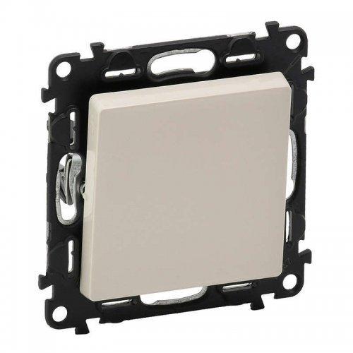 Механизм выключателя 1-кл. СП Valena Life 10А IP20 250В 10АХ с лицевой панелью; безвинтовые зажимы сл. кость Leg 752501