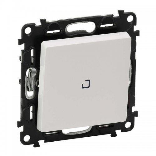 Механизм выключателя 1-кл. СП Valena Life 10А IP20 250В 10АХ с подсветкой; с лицевой панелью бел. Leg 752410