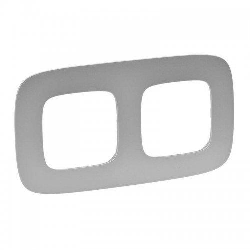 Рамка 2-м Valena Allure универсальная алюм. Leg 754392