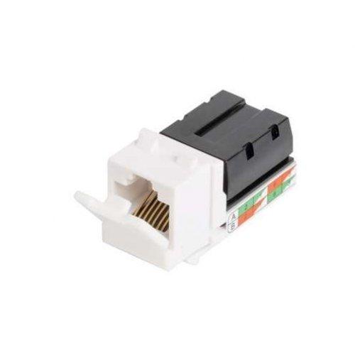 Модуль-вставка Keystone кат.5e (класс D) 100МГц RJ45/8P8C 110/KRONE T568A/B неэкран. бел. NIKOMAX NMC-KJUD2-WT
