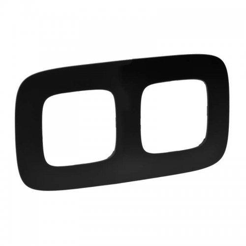 Рамка 2-м Valena Allure универсальная матовый черн. Leg 754402