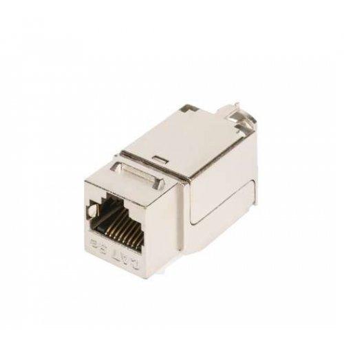 Модуль-вставка Keystone кат.5e (класс D) 100МГц RJ45/8P8C FT-TOOL/110/KRONE T568A/B полный экран метал. NIKOMAX NMC-KJSD2-FT-MT