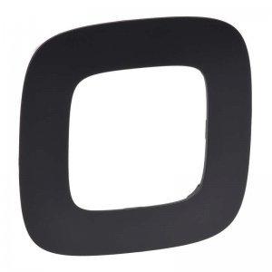 Рамка 1-м Valena Allure универсальная матовый черн. Leg 754401