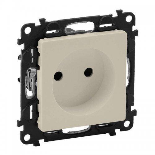 Механизм розетки 1-м СП Valena Life 16А IP20 с лицевой панелью защ. шторки безвинт. зажимы сл. кость Leg 753516