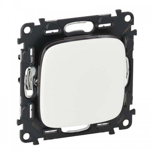 Механизм выключателя 1-кл. СП Valena Allure 10А IP20 250В 10АХ с лицевой панелью; безвинтовые зажимы бел. Leg 752701