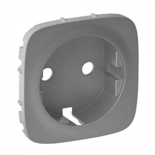 Панель лицевая Valena Allure для розетки 2К+З алюм. Leg 755207