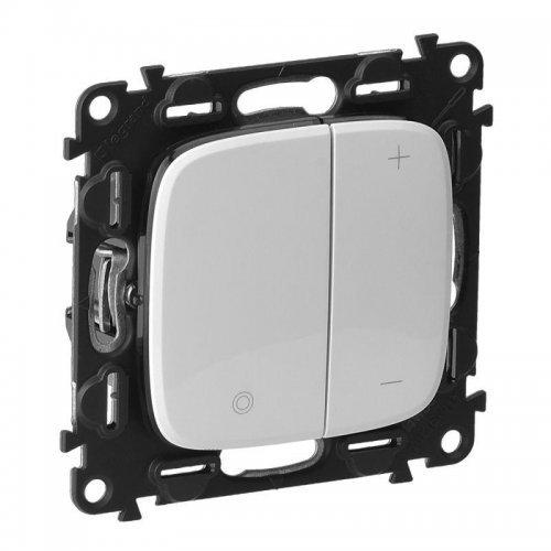 Механизм светорегулятора кнопочный универсальный Valena Allure 400Вт без нейтрали с лиц. панелью бел. Leg 752762