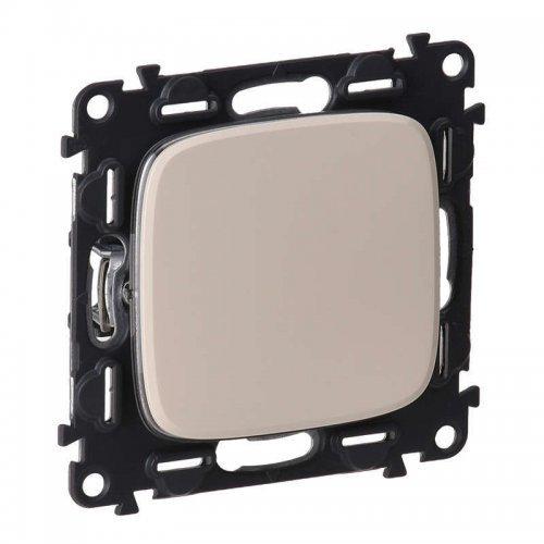 Механизм выключателя 1-кл. СП Valena Allure 10А IP20 250В 10АХ с лицевой панелью; безвинтовые зажимы сл. кость Leg 752801