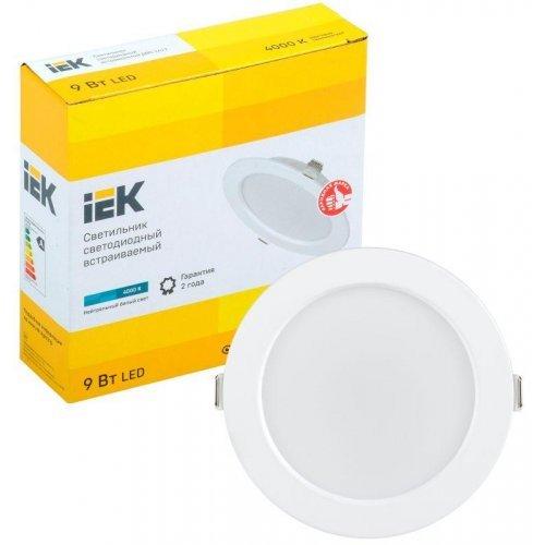 Светильник светодиодный ДВО 1612 9Вт 4000К IP20 круг бел. ИЭК LDVO0-1612-09-4000-K01